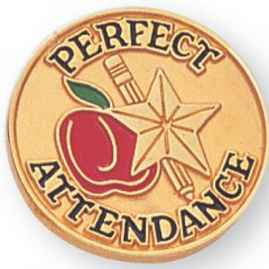 Perfect Attendance Award Pin