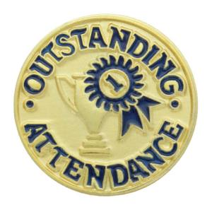 Outstanding Attendance Award Pin