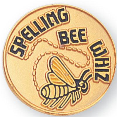 Spelling Bee Whiz Award Pin
