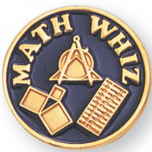 Math Whiz Award Pin