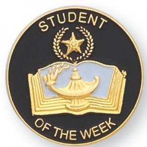 Student of the Week Award Pin