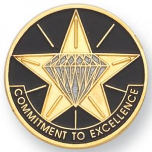 Commitment to Excellence Award Pin