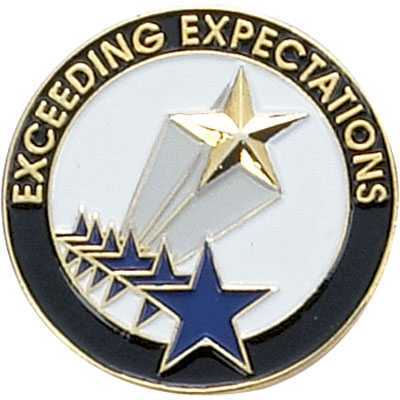 Exceeding Expectations Award Pin
