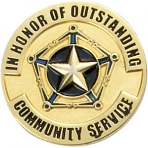 Community Service Award Pin
