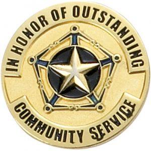 Community Service Award Pin
