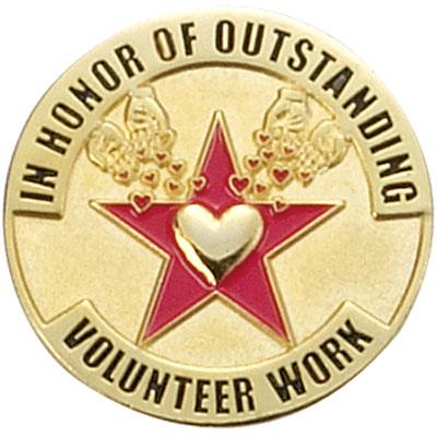 Outstanding Volunteer Work Award Pin