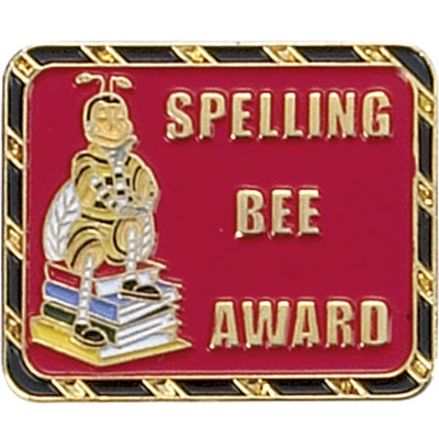 Spelling Bee Award Award Pin