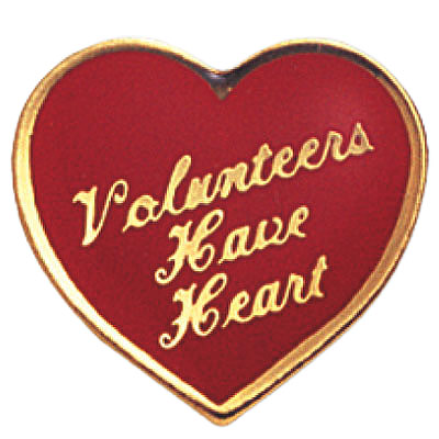 Volunteers Have Heart Award Pin