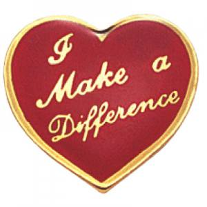 Make A Difference Heart Award Pin