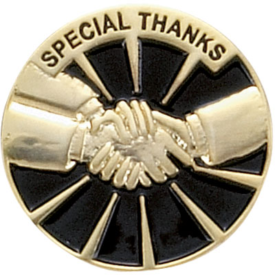 Special Thanks Award Pin