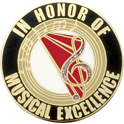 In Honor of Musical Excellence Award Pin