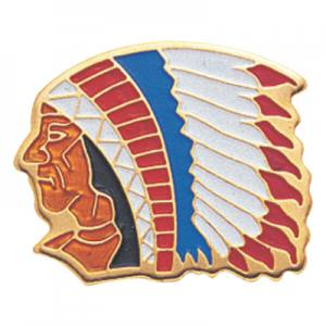 Indian Chief Mascot Award Pin