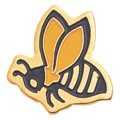 Bee Mascot Award Pin