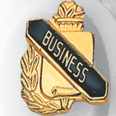 Business Scroll Award Pin