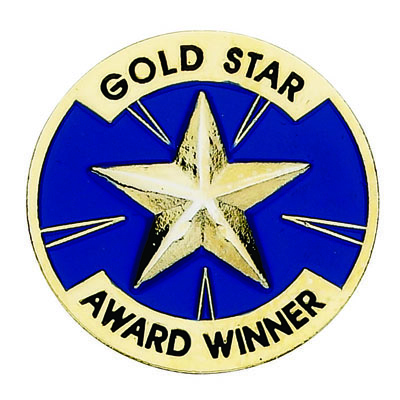 Gold Star Award Winner Award Pin