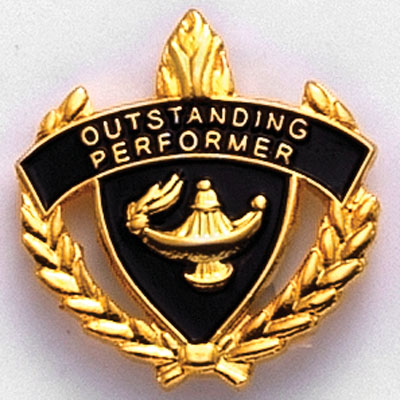 Outstanding Performer Scholastic Award Pins