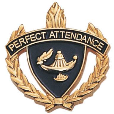 Perfect Attendance Scholastic Award Pins