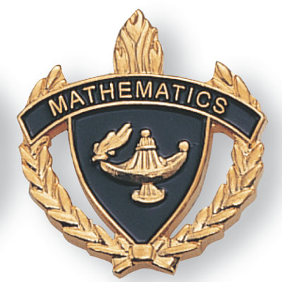 Mathematics Scholastic Award Pins
