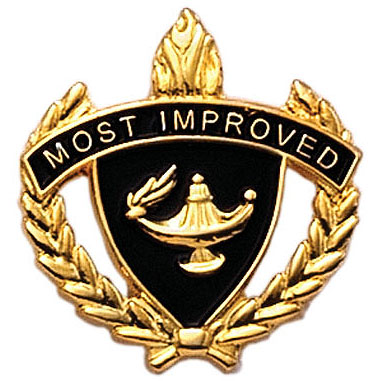 Most Improved Scholastic Award Pins