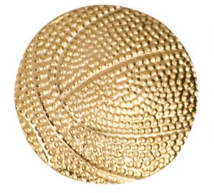 Basketball Chenille Pin