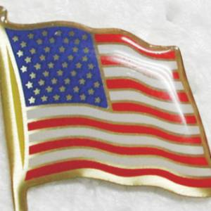 Epoxy American Flag Pin