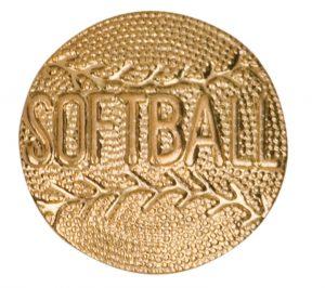 Softball Chenille Pin