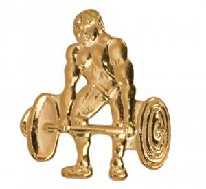 Weightlifting Chenille Pin