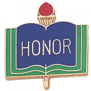Honor Academic Award Pin