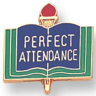 Perfect Attendance Award Award Pin