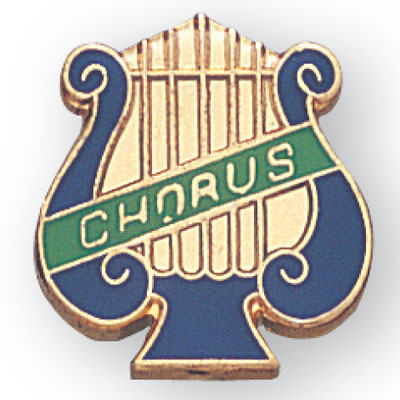 Chorus Lyre Award Pin