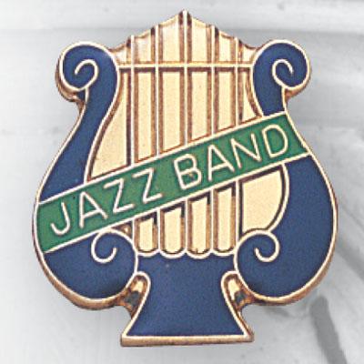 Jazz Band Lyre Award Pin