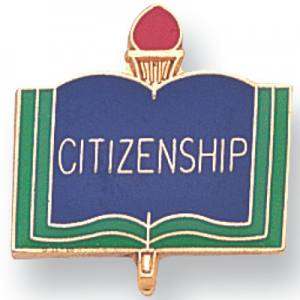 Citizenship Academic Award Pin
