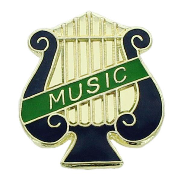 Music Lyre Award Pin