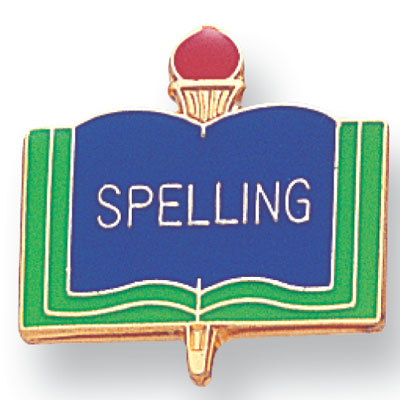 Spelling Academic Award Pin