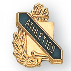 Athletics Scroll Award Pin