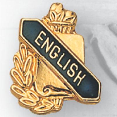 English Scroll Award Pin