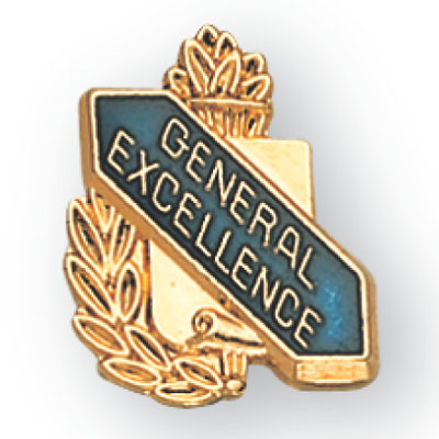 General Excellence Scroll Award Pin