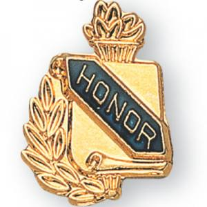 Honor Scroll Award Pin