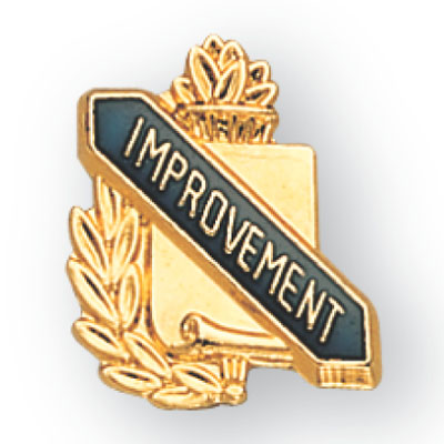 Improvement Scroll Award Pin