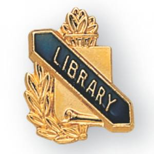 Library Scroll Award Pin