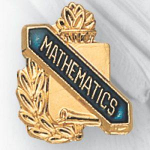 Mathematics Scroll Award Pin