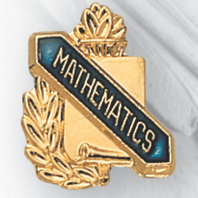 Mathematics Scroll Award Pin