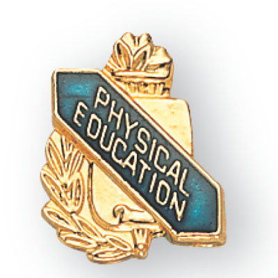 Physical Education Scroll Award Pin
