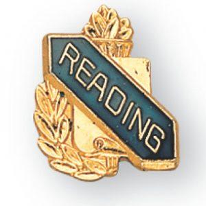 Reading Scroll Award Pin