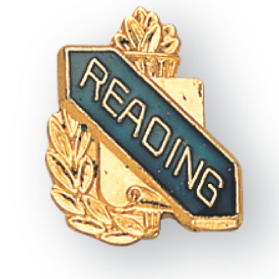 Reading Scroll Award Pin