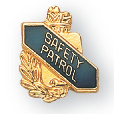 Safety Patrol Scroll Award Pin