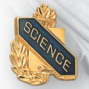 Science Scroll Award Pin