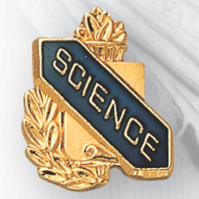 Science Scroll Award Pin