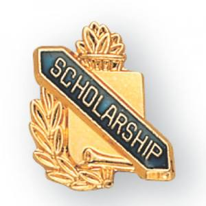 Scholarship Scroll Award Pin
