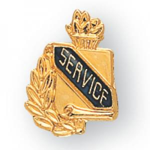 Service Scroll Award Pin